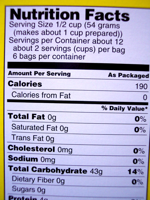food label